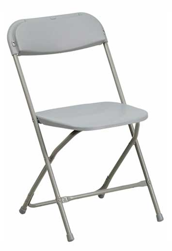 Grey Folding Chair for rent Springfield, MO