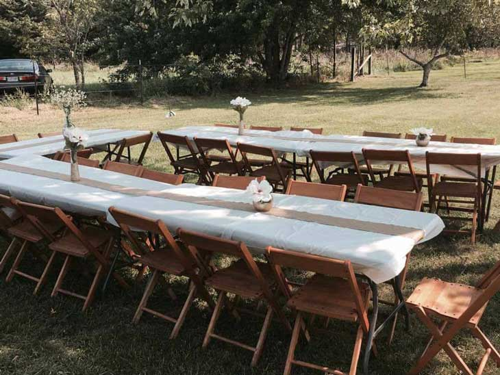 6' tables for rent Springfield, MO