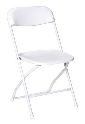 Wite Folding Chair for rent Springfield, MO