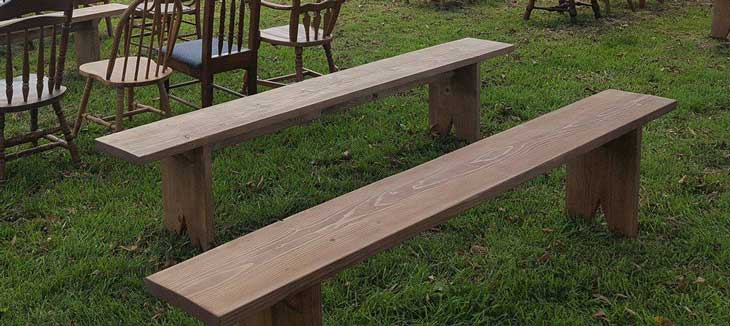 Wooden Benches for event seating